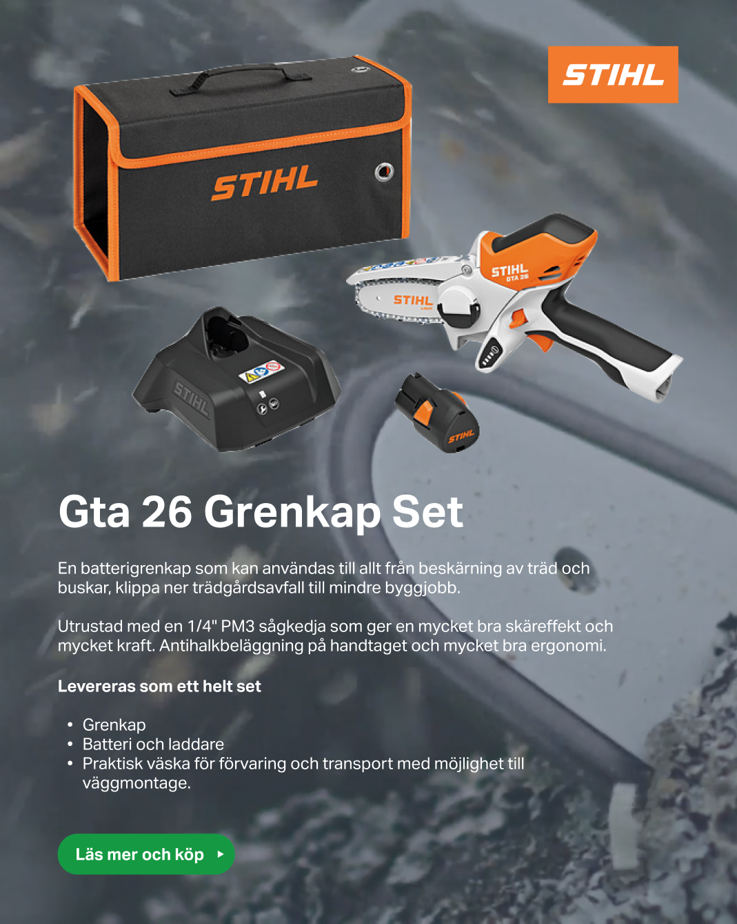 Stihl Gta 26 Grenkap Set